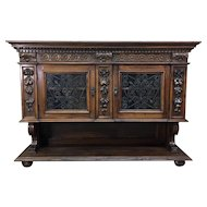 19th Century Antique Italian Renaissance Style Walnut Sideboard