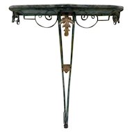 19th Century Antique French Wrought Iron Console