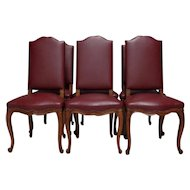 Set of 6 Antique French Louis XV Style Dining Chairs