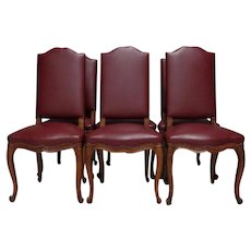 Set of 6 Antique French Os Louis XV Style Dining Chairs
