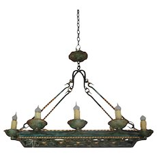 Antique French Renaissance Style 8 Light Chandelier