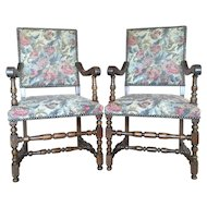 Pair of Antique French Renaissance Style Armchairs