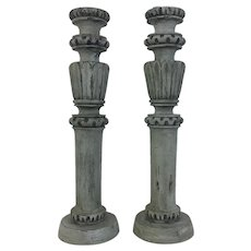 Pair of 19th Century Antique French Candle Holders
