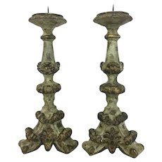 Pair of 19th Century Antique Italian Candlesticks