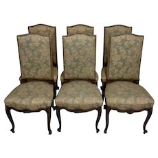Set of 6 Antique French Louis XV Dining Chairs