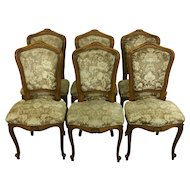 Set of 6 French Louis XV Style Dining Chairs