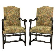 Pair of French Antique Os De Mouton Armchairs