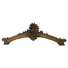 19th Century Antique Italian Rococo Walnut Crest