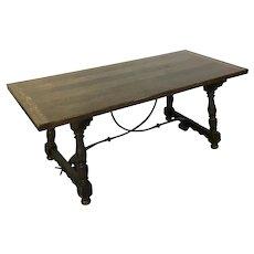 Antique French Oak Trestle Table