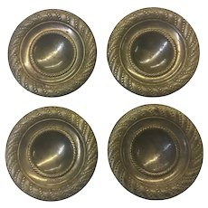 Set of 4 French Empire Style Brass Handles