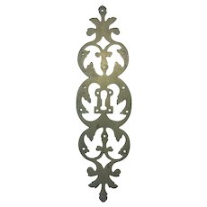 19th Century French Louis XV Style Escutcheon 11 inches