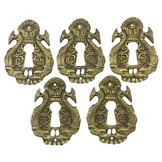 Set of 5 French Empire Style Escutcheons