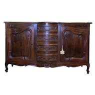 Antique Country French Louis XV Style Provencal Buffet Enfilade