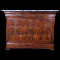 19th Century Antique French Louis Philippe Period Commode