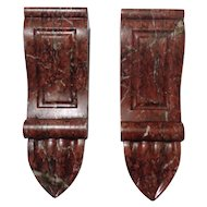 Pair of 18th Century Antique French Marble Brackets