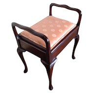 Antique English Chippendale Mahogany Bench