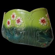 Antique French Art Nouveau Period Majolica Planter