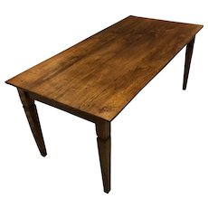 19th Century Antique French Restoration Period Farm Table