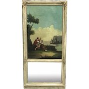19th Century Antique French Louis XV Style Trumeau Mirror