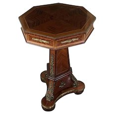 Antique French Empire Style Parisian Side Table Gueridon