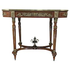 Antique French Louis XVI Style Mahogany Center Table