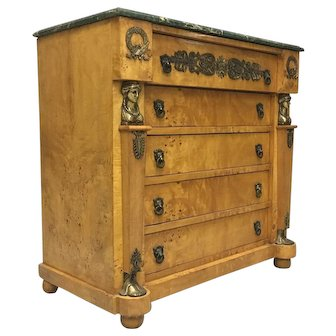 "French Empire Style ""Retour D'Egypte"" Chest Of Drawers"