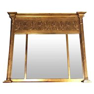Antique French Empire Style Gilded Mirror