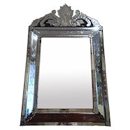 Venetian Style French Pareclose Mirror
