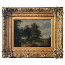 Oil On Wood Painting Landscape