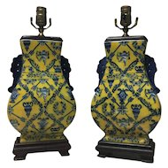 Pair of French Art Nouveau Lamps