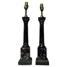 Pair of 19th Century French Napoleon III Style Lamps