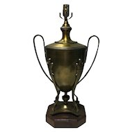 Large English Vintage Brass Urn Shaped Lamp