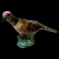 Antique Majolica Pheasant Planter