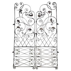 Pair of 19th Century Antique French Wrought Iron Gates