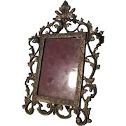 19th Century Antique French Rococo Bronze Picture Frame
