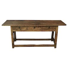 19th Century English Pine Country Console