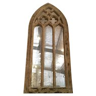 Distressed Gothic Moorish Arch Mirror