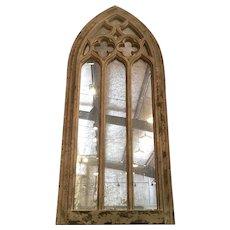 Distressed Gothic Moorish Arch Mirror