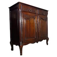 19th Century Antique French Louis XV Style Oak Buffet