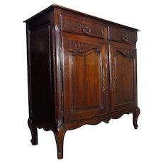 19th Century Antique French Louis XV Style Oak Buffet