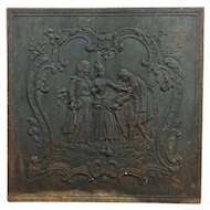 18th Century Antique French Cast Iron Fireback
