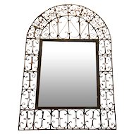 Antique Spanish Wrought Iron Mirror