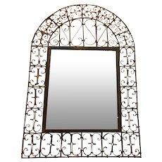 Antique Spanish Wrought Iron Mirror
