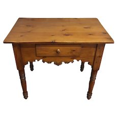 19th Century Antique English Pine Writing Table