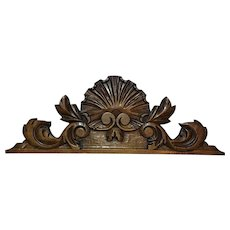 19th Century Antique Walnut Crest