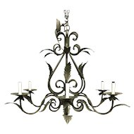Vintage French Louis XV Style 6-light Chandelier