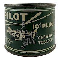 Vintage W.C. MacDonald Pilot CF-ARO Chewing Tobacco Tin