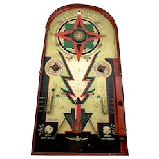 """ Rocket Shot "" Pinball Game LINDSTROM c. 1930's"