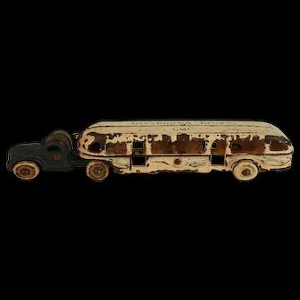 Vintage Arcade Cast Iron GMC Greyhound Bus