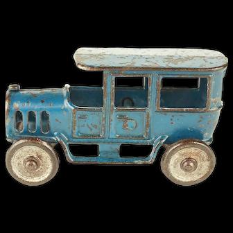 Vintage Hubley Cast Iron Blue Limousine c.1915